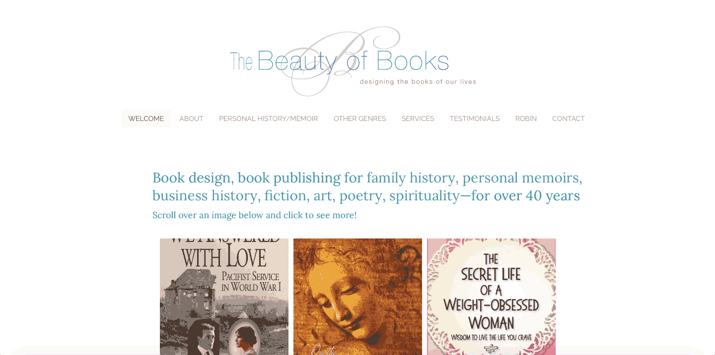 The Beauty of Books website - Robin's Webs