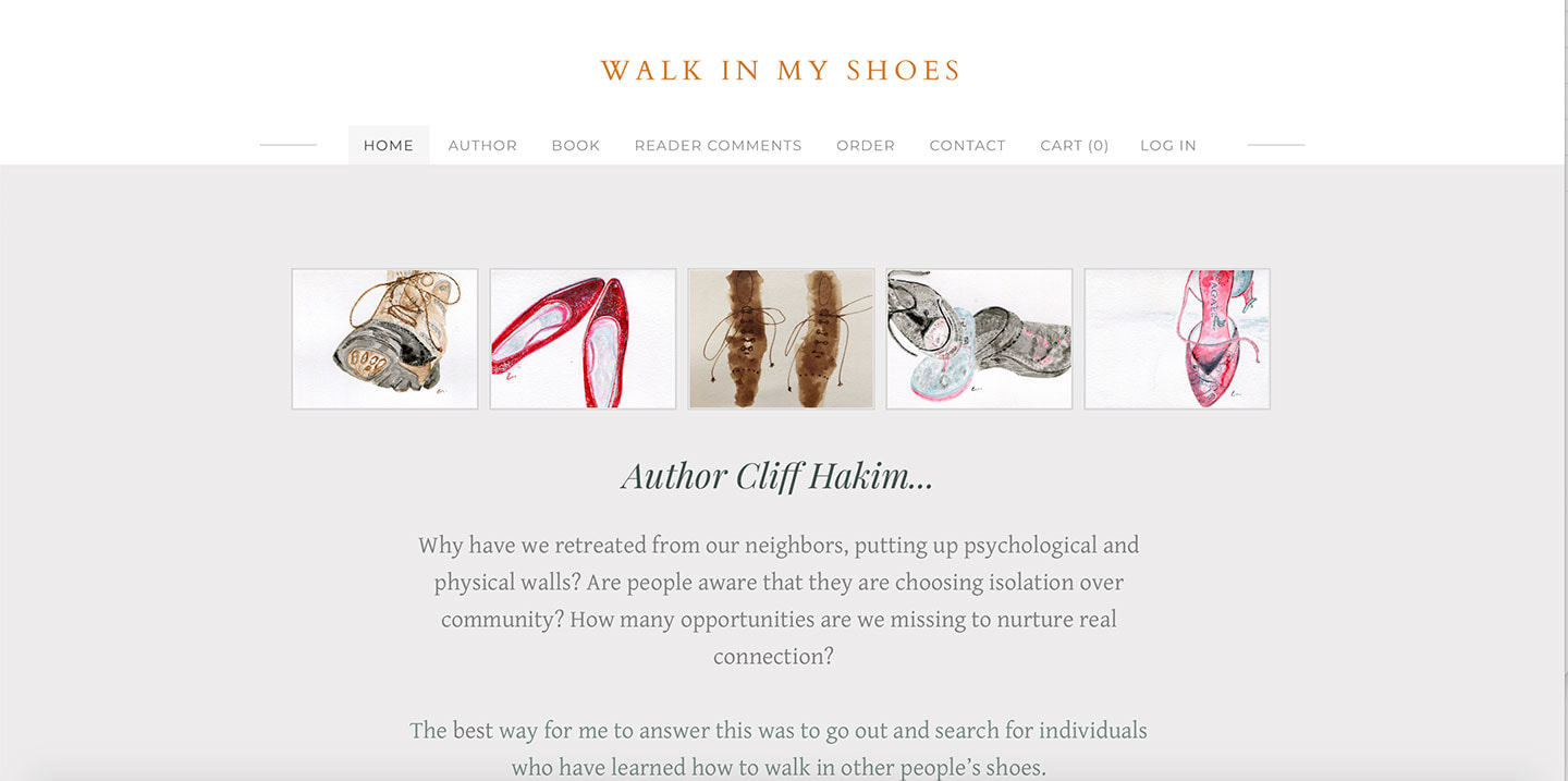 Robin's Webs – Cliff Hakim's Walk in My Shoes author website